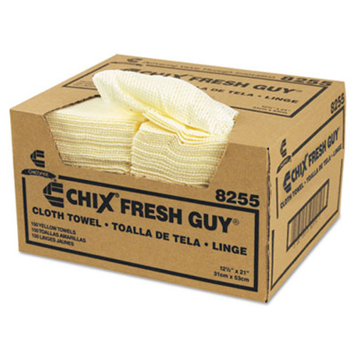 Chix Fresh Guy Towels, 13 1/2 x 13 1/2, Yellow, 150/Carton (CHI 8255)