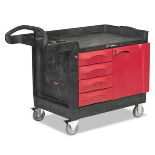 Rubbermaid Commercial TradeMaster Cart  750-lb Capacity  One-Shelf  26 25w x 49d x 38h  Black (RCP 4533-88 BLA)