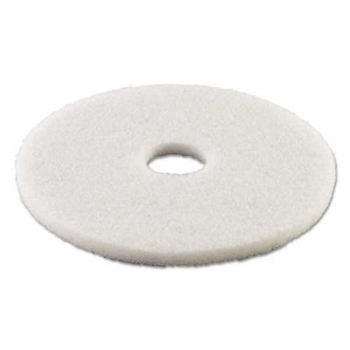 Boardwalk Polishing Floor Pads  16  Diameter  White  5 Carton (PAD 4016 WHI)