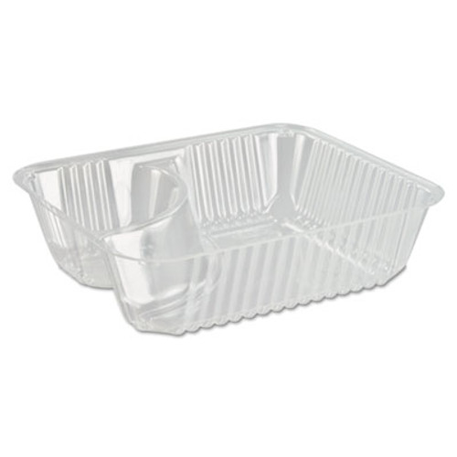 Dart ClearPac Small Nacho Tray, 2-Compartments, Clear, 125/Bag (DCC C56NT2)