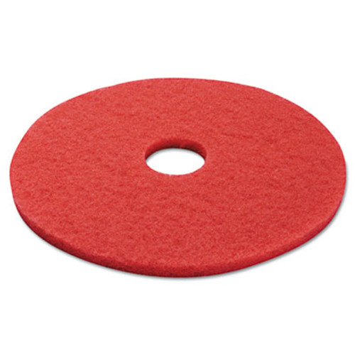 Boardwalk Buffing Floor Pads  17  Diameter  Red  5 Carton (PAD 4017 RED)