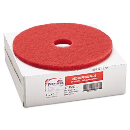 Boardwalk Buffing Floor Pads  17  Diameter  Red  5 Carton (PAD 4017 RED)