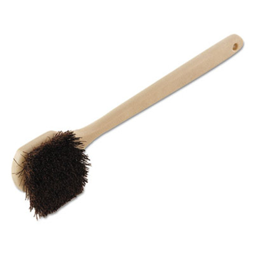 Boardwalk Utility Brush  Palmyra Bristle  Plastic  20   Tan Handle (BWK 4120)