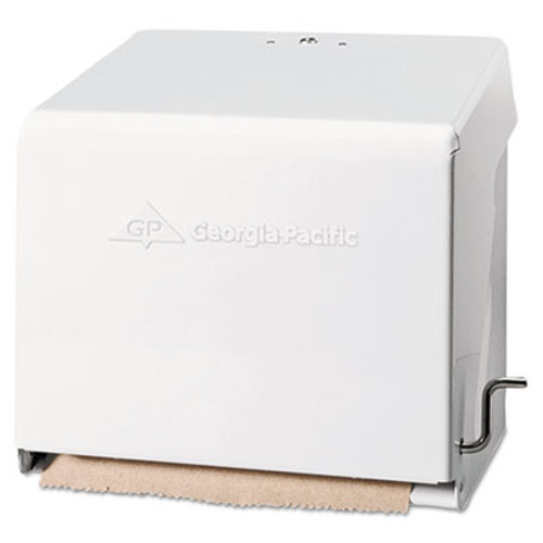 Georgia Pacific Mark II Crank Roll Towel Dispenser  10 3 4 x 8 1 2 x 10 3 5  White (GPC 562-01)