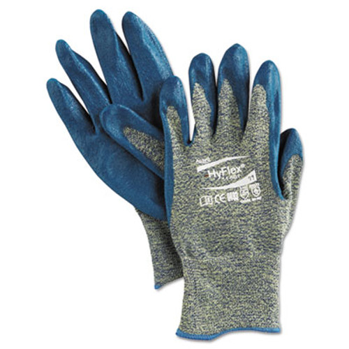 AnsellPro HyFlex 501 Medium-Duty Gloves  Size 11  Kevlar Nitrile  Blue Green  12 Pairs (ANS1150111)