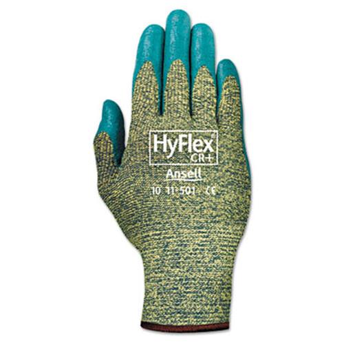 AnsellPro HyFlex 501 Medium-Duty Gloves  Size 8  Kevlar Nitrile  Blue Green  12 Pairs (ANS115018)