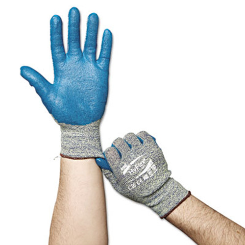 AnsellPro HyFlex Medium-Duty Assembly Gloves, Blue/Green, Size 9, 12 Pairs (ANS115019)