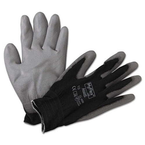 AnsellPro HyFlex Lite Gloves  Black Gray  Size 10  12 Pairs (ANS1160010BK)