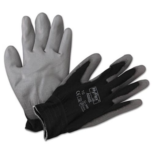 AnsellPro HyFlex Lite Gloves  Black Gray  Size 10  12 Pairs (ANS1160010BK)
