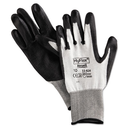 AnsellPro HyFlex Dyneema Cut-Protection Gloves  Gray  Size 10  12 Pairs (ANS1162410)