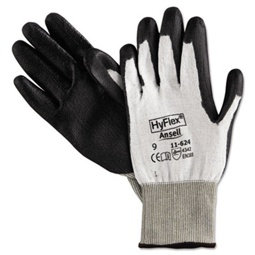 AnsellPro HyFlex Dyneema Cut-Protection Gloves, Gray, Size 9, 12 Pairs (ANS116249)