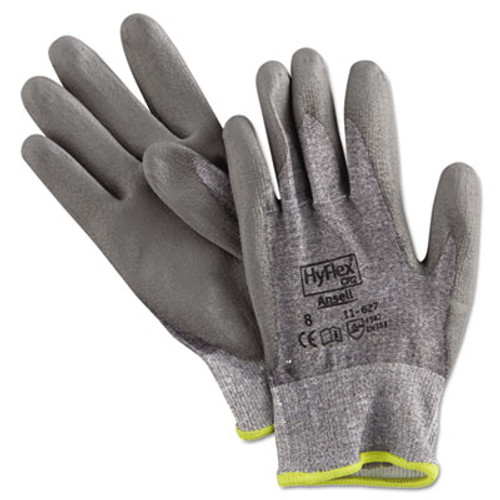 AnsellPro HyFlex 627 Light-Duty Gloves  Size 8  Dyneema Lycra Polyurethane  GY  12 Pairs (ANS116278)