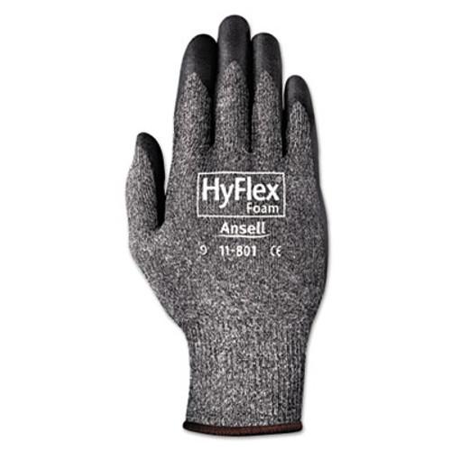 AnsellPro HyFlex Foam Gloves  Dark Gray Black  Size 10  12 Pairs (ANS1180110)