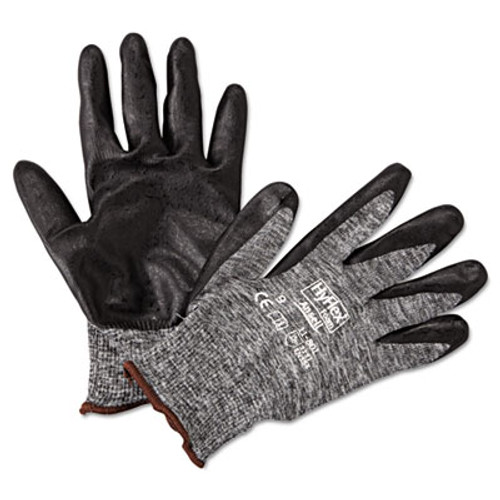 AnsellPro HyFlex Foam Gloves  Dark Gray Black  Size 9  12 Pairs (ANS118019)