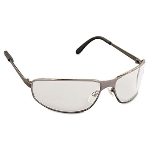 Honeywell Uvex Tomcat Safety Glasses  Gun Metal Frame  Clear Lens (UVX S2450)