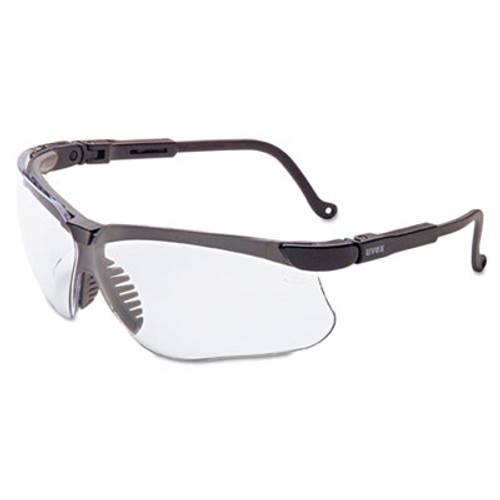 Honeywell Uvex Genesis Safety Eyewear, Black Frame, Clear Lens (UVX S3200X)