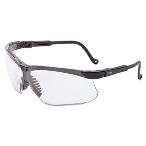 Honeywell Uvex Genesis Safety Eyewear  Black Frame  Clear Lens (UVX S3200X)