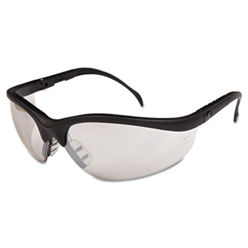 Crews Klondike Safety Glasses, Black Matte Frame, Clear Mirror Lens (CWS KD119)