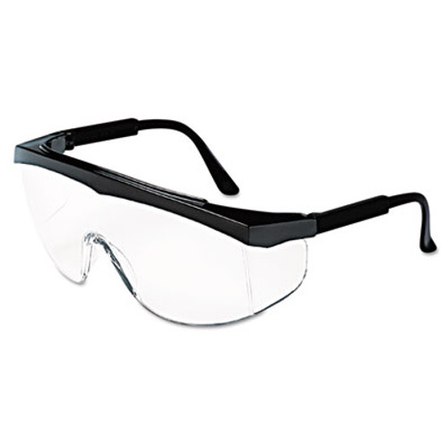 MCR Safety Stratos Safety Glasses  Black Frame  Clear Lens (CWS SS110)