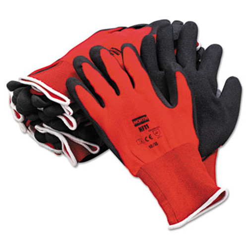 North Safety NorthFlex Red Foamed PVC Gloves  Red Black  Size 10 XL  12 Pairs (NSP NF1110XL)