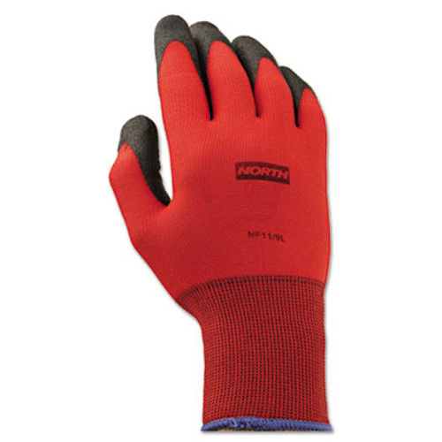 North Safety NorthFlex Red Foamed PVC Gloves  Red Black  Size 9 L  12 Pairs (NSP NF119L)