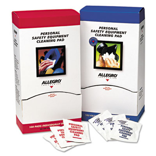 Allegro Respirator Cleaning Pads  5 x 7  White  100 Box (ALG1001)