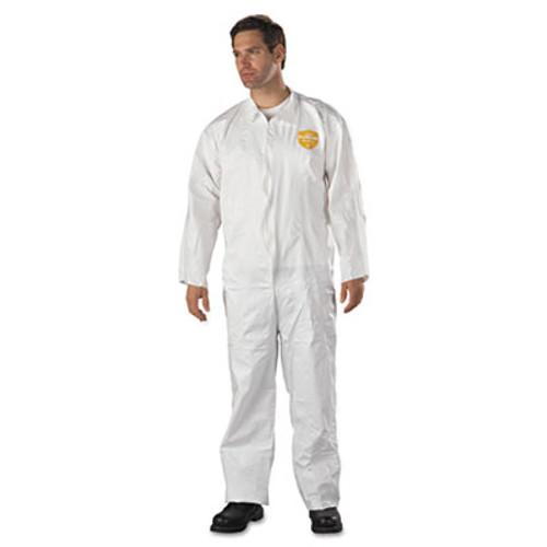 DuPont ProShield NexGen Coveralls, HD Polyethylene, White, Size 2X-Large, 25/Carton (DUP NG120S2XL)