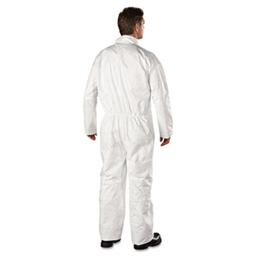 DuPont Tyvek Coveralls  Open Wrist Ankle  HD Polyethylene  White  2X-Large  25 Carton (DUP TY120S2XL)