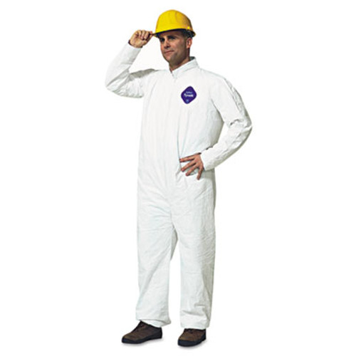 DuPont Tyvek Coveralls, White, 4X-Large, 25/Carton (DUP TY120S4XL)