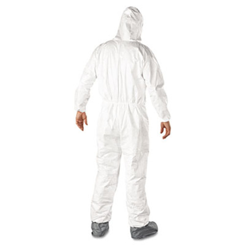 DuPont Tyvek Elastic-Cuff Hooded Coveralls w/Boots, White, 2X-Large, 25/Carton (DUP TY122S2XL)