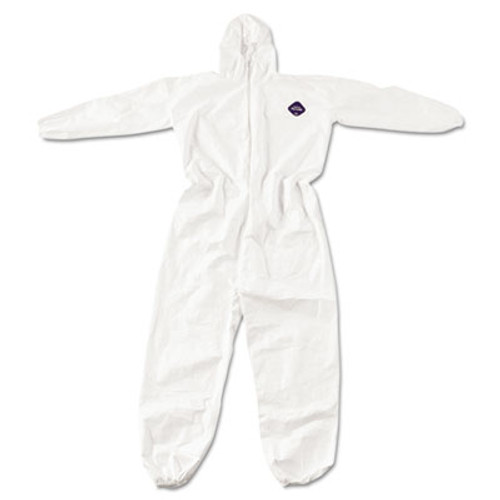 DuPont Tyvek Elastic-Cuff Hooded Coveralls, White, 4X-Large, 25/Carton (DUP TY127S4XL)