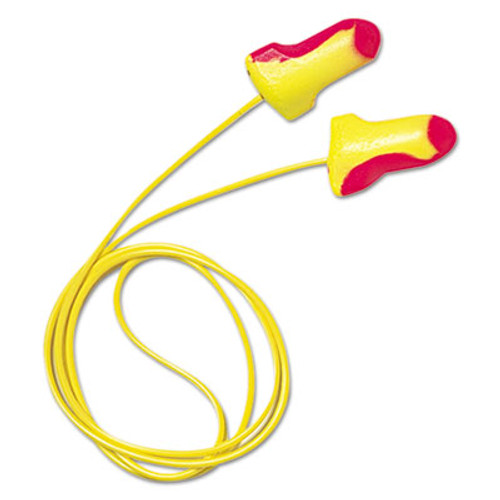 Howard Leight by Honeywell LL-30 Laser Lite Single-Use Earplugs  Corded  32NRR  Magenta Yellow  100 Pairs (HOW LL30)