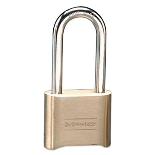 Master Lock Resettable Combination Padlock  Brass  2  Wide  Brass Color  6 Box (MAS 175DLH)