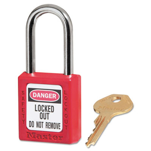 Master Lock Government Safety Lockout Padlock  Zenex  1 1 2   Red  1 Key  6 Box (MAS 410RED)