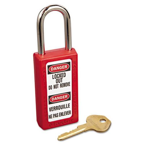 Master Lock Lightweight Zenex Safety Lockout Padlock  1 1 2  Wide  Red  2 Keys  6 Box (MAS 411RED)