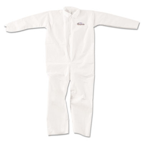KleenGuard* A20 Breathable Particle-Pro Coveralls, Zip, X-Large, White, 24/Carton (KCC 49004)