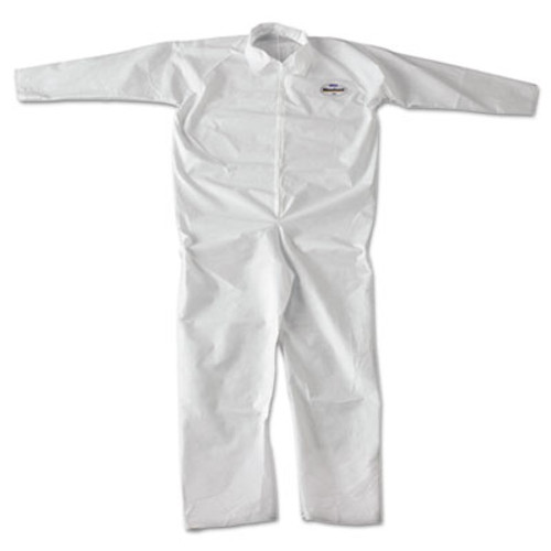 KleenGuard* A20 Breathable Particle-Pro Coveralls, Zip, 2X-Large, White, 24/Carton (KCC 49005)