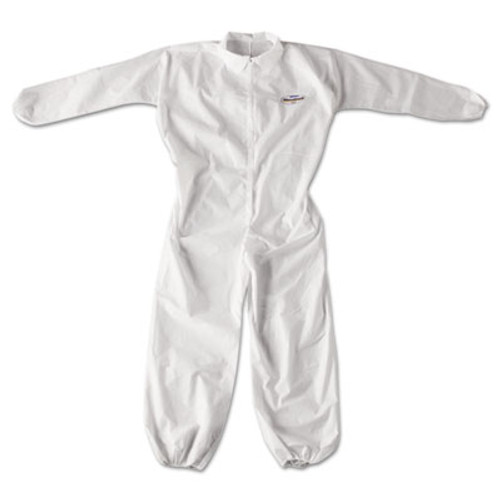 KleenGuard* A20 Breathable Particle Protection Coveralls, Zip Closure, X-Large, White (KCC 49104)