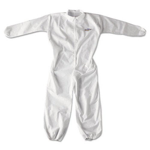 KleenGuard* A20 Breathable Particle Protection Coveralls, Zip Closure, 2X-Large, White (KCC 49105)