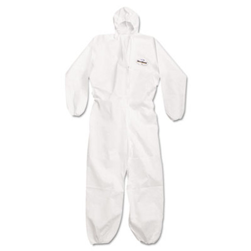 KleenGuard* A20 Breathable Particle Protection Coveralls, Large, White, Zipper Front (KCC 49113)