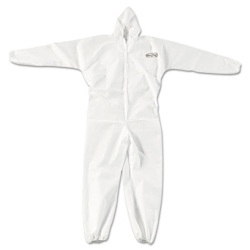 KleenGuard* A20 Elastic Back, Cuff & Ankle Coveralls, Zip, X-Large, White, 24/Carton (KCC 49114)