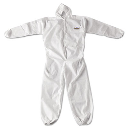 KleenGuard* A20 Breathable Particle Protection Coveralls, Zip Closure, 2X-Large, White (KCC 49115)