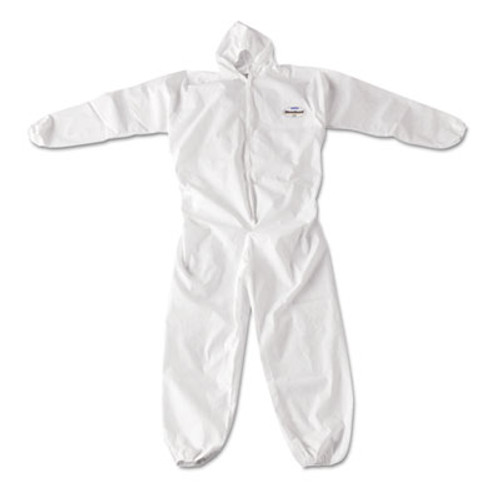 KleenGuard* A20 Breathable Particle Protection Coveralls, Zip Closure, 3X-Large, White (KCC 49116)
