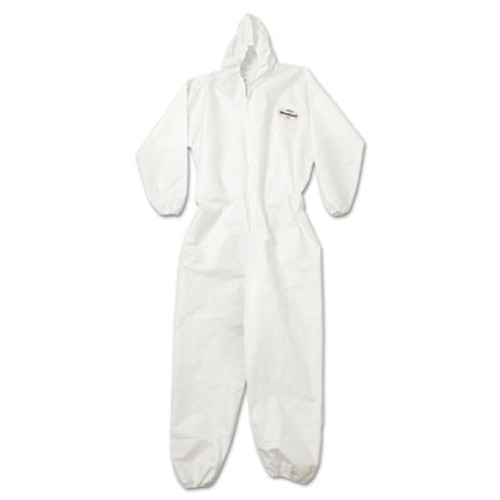KleenGuard A20 Breathable Particle Protection Coveralls  Zip Closure  3X-Large  White (KCC 49116)