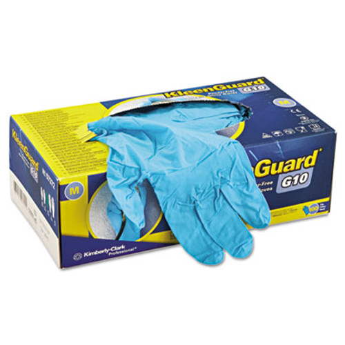 KleenGuard* G10 Blue Nitrile Gloves, Powder-Free, Blue, Medium, 100/Box (KCC 57372)