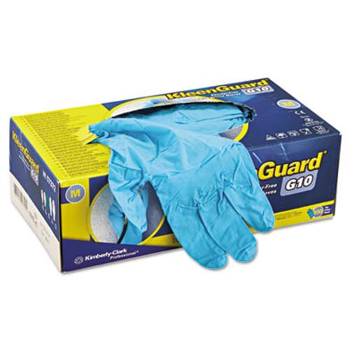 KleenGuard G10 Blue Nitrile Gloves  Powder-Free  Blue  242 mm Length  Medium  100 Box (KCC 57372)