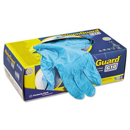 KleenGuard G10 Blue Nitrile Gloves  Powder-Free  Blue  242 mm Length  X-Large  90 Box (KCC 57374)