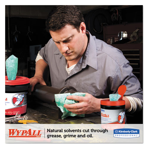 WypAll Heavy-Duty Waterless Cleaning Wipes  12 x 9 1 2  Green-White  50 Canister  8 CT (KCC 58310)