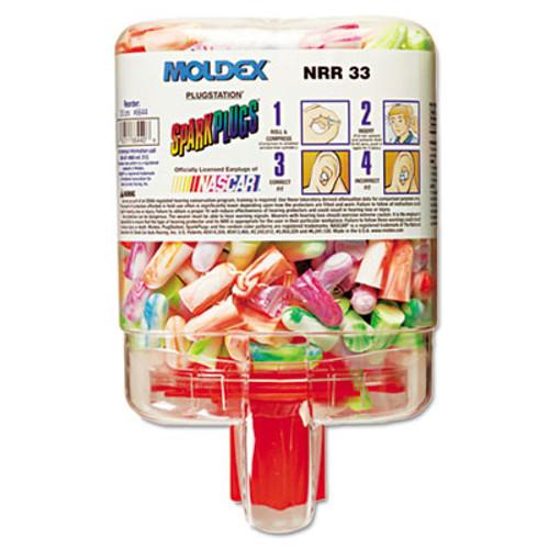 Moldex SparkPlugs PlugStation Dispenser  Cordless  33NRR  Asst  Colors  250 Pairs (MLX 6644)