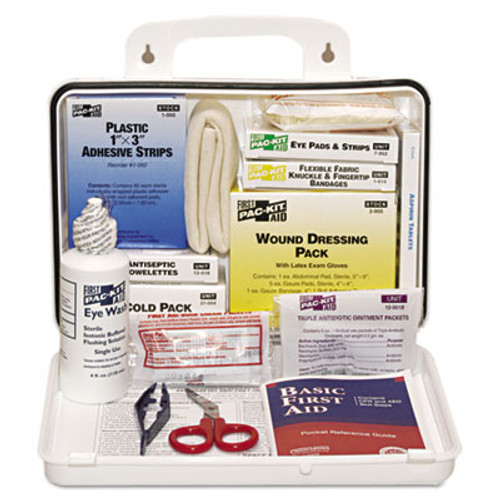 Pac-Kit ANSI Plus #25 Weatherproof First Aid Kit, 143-Pieces, Plastic Case (PKT6430)